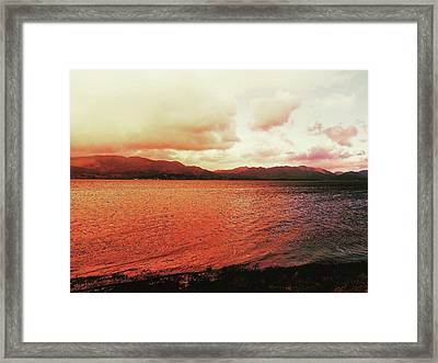Framed Print featuring the photograph Red Sky After Storms  by Chriss Pagani