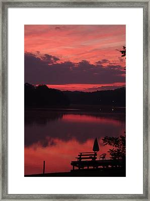 Red Sky At Morning---3 Framed Print by Rich Caperton