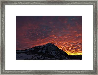 Red Sky At Morning Framed Print by Dusty Demerson