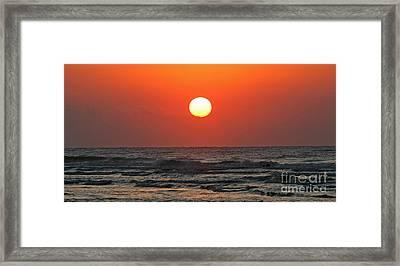 Red Sky At Morning Framed Print