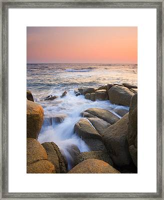 Red Sky At Morning Framed Print by Mike  Dawson