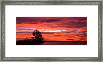 Red Sky At Morning Pano Framed Print