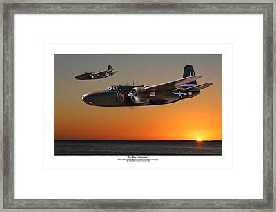 Red Sky At Morning - Titled Usaaf 312bg Version Framed Print by Mark Donoghue