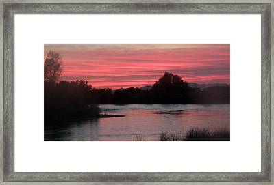 Framed Print featuring the photograph Red Sky At Night by Antonia Citrino