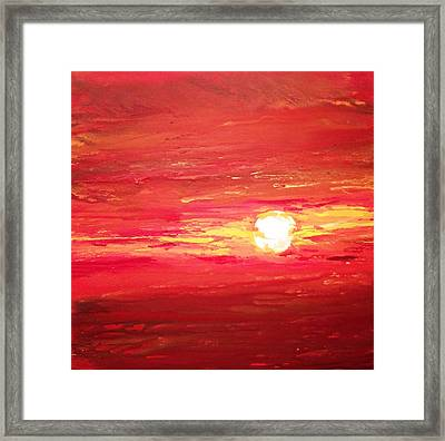 Red Sky At Night Framed Print by Ivy Stevens-Gupta