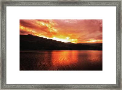 Red Sky At Night Framed Print by Martin Newman