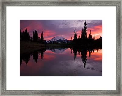 Red Sky At Night Framed Print by Mike  Dawson