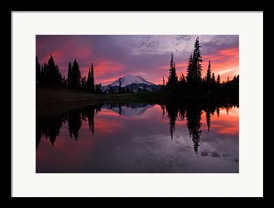 Mt Rainier Framed Prints