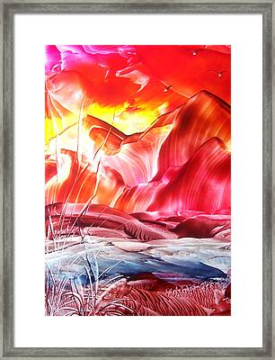Red Sky At Night...... Framed Print by Tezz J
