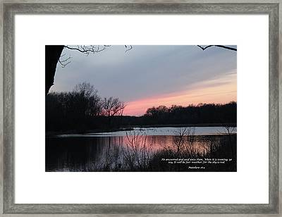 Red Sky Framed Print by Cliff Ball