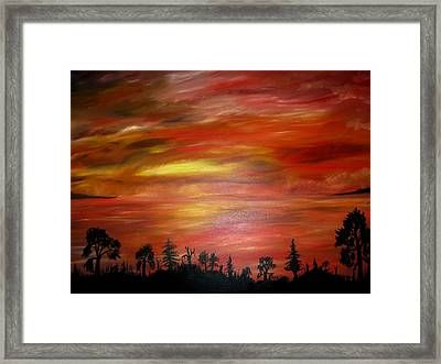 Red Sky Delight Framed Print by Michael Schedgick