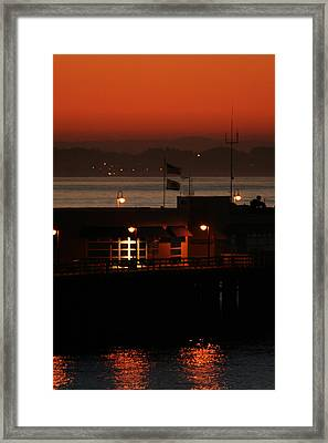 Red Sky In The Morn Framed Print by Holly Ethan