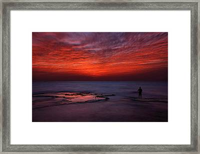 Red Sky Framed Print by Itay Gal