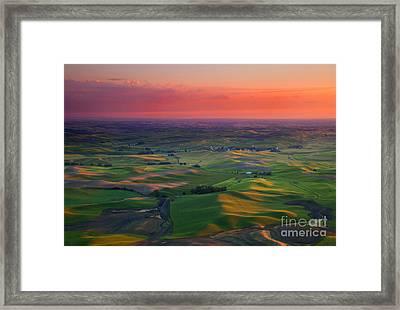 Red Sky Palouse Framed Print