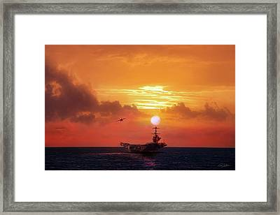 Red Sky Recovery Framed Print