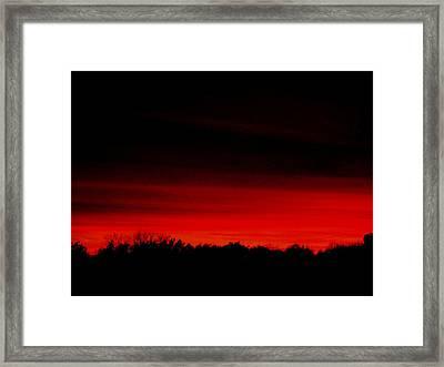 Red Sky Rising Framed Print by Marsha Heiken