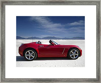 Red Sky White Sands Framed Print