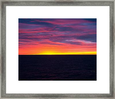 Red Skys In The Morning Framed Print by Bill Perry