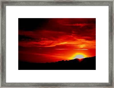 Red Skys Tonight Framed Print by Douglas Kriezel