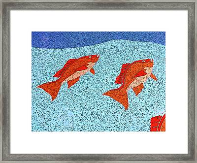 Red Snapper Inlay On A Sunny Day Framed Print