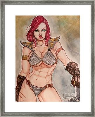 Red Sonja Framed Print