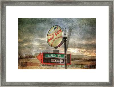Red Sox Art - Boston Framed Print