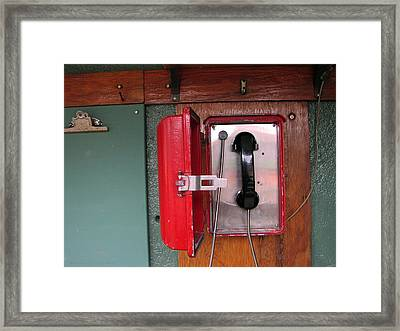 Red Sox Dugout Phone Framed Print