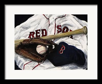 Baseball Bat Framed Prints