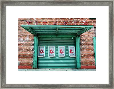 Red Sox Ticket Counter Framed Print