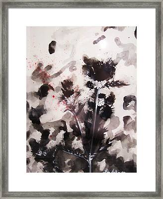 Red Spatter Framed Print