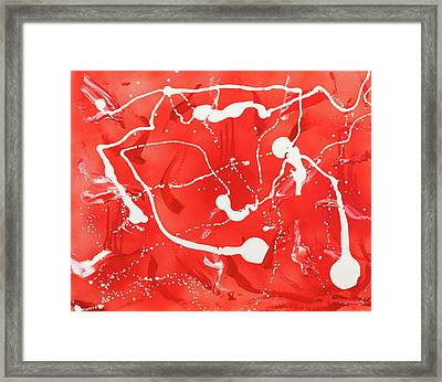 Red Spill Framed Print