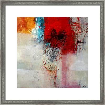 Red Splash 1 Framed Print by Jane Davies