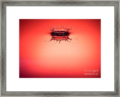 Red Splashdown 2 Framed Print