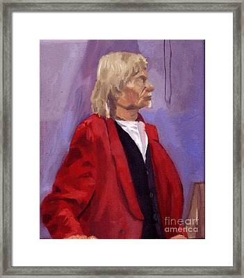 Red Sport Coat Framed Print by Timothy Winiarski