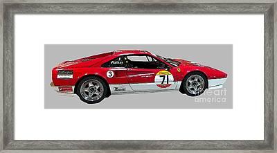 Red Sports Racer Art Framed Print