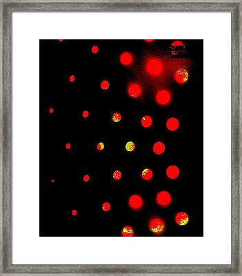 Red Spots Framed Print by Mildred Ann Utroska        Mauk