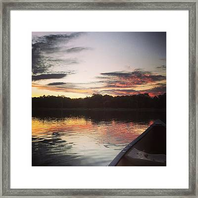 Red Spotted Sunset Framed Print