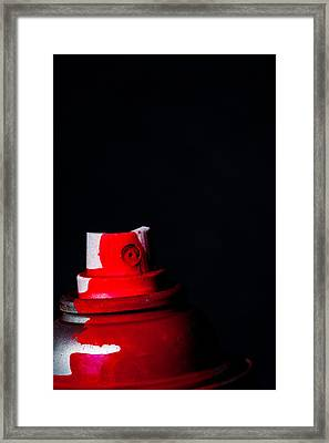 Red Spray Framed Print by Karol Livote