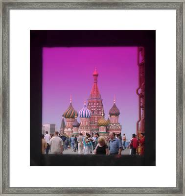 Red Square Peak Framed Print by Funkpix Photo Hunter