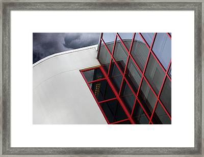Red Squares Framed Print by Rebecca Cozart