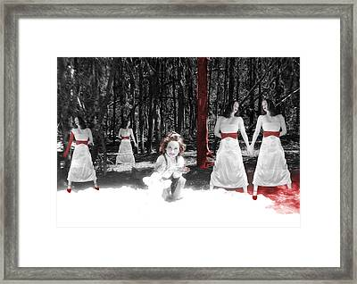 Red Stains - Self Portrait Framed Print