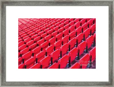 Red Stadium Seats Framed Print by Edward Fielding