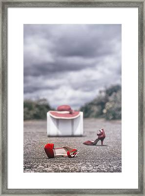 Red Stilettos Framed Print