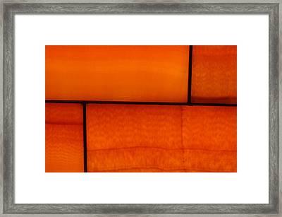 Red Stone 1 Framed Print