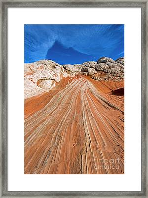 Red Stone Highway Framed Print by Mike Dawson