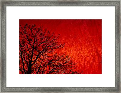 Red Storm Framed Print