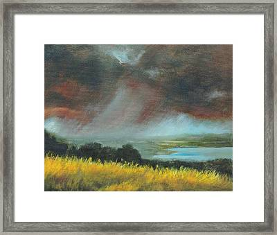 Red Storm Framed Print by Dennis Kirby