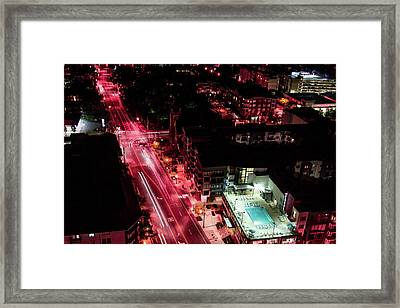 Red Streets Framed Print