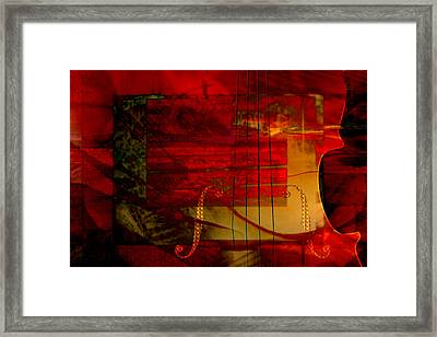 Red Strings Framed Print