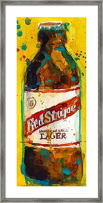 Red Stripe Jamaican Style Lager Framed Print by Dorrie Rifkin